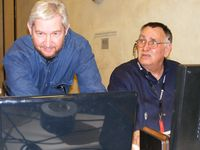 Dennis Streeter & Dr. Reid Cornwell Viewing Video And Solving A Techical Glitch